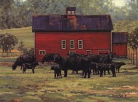 By the Red Barn Fine-Art Print