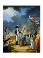 The Oath of Lafayette at the Festival of the Federation, 14th July 1790 Fine-Art Print