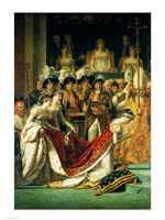 The Consecration of the Emperor Napoleon and the Coronation of the Empress Josephine, detail Fine-Art Print