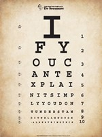 Einstein Eye Chart II Fine-Art Print