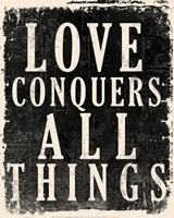 Love Conquers All - Voltaire Quote Fine-Art Print