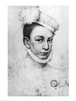 Portrait of King Charles IX of France, 1561 Fine-Art Print