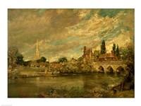 The Bridge of Harnham and Salisbury Cathedral Fine-Art Print