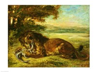 Lion and Alligator, 1863 Fine-Art Print