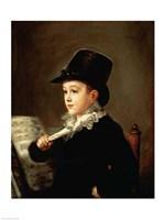 Portrait of Marianito Goya, Grandson of the Artist, c.1815 Fine-Art Print