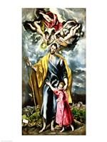 St. Joseph and the Christ Child Fine-Art Print