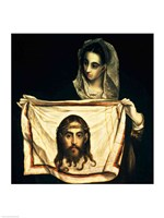 St.Veronica with the Holy Shroud Fine-Art Print