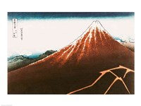 Fuji above the Lightning Fine-Art Print