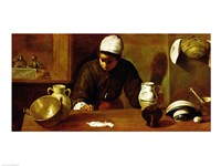 Kitchen Maid with the Supper at Emmaus, c.1618 Fine-Art Print