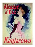 Poster advertising Alcazar d'Ete starring Kanjarowa Fine-Art Print