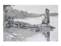 The Death of Indian Chief Alexander, Brother of King Philip Fine-Art Print