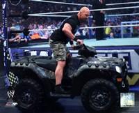 Stone Cold Steve Austin WrestleMania XXVII Action Fine-Art Print
