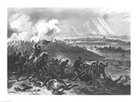 Battle of Gettysburg - Final Charge of the Union Forces at Cemetery Hill, 1863 Fine-Art Print