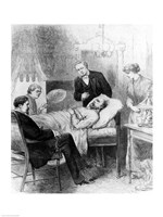 President Garfield Lying Wounded in his Room at the White House, Washingto Fine-Art Print