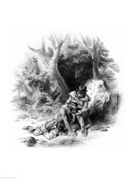 Illustration from 'The Last of the Mohicans Fine-Art Print