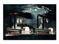 Midnight Race on the Mississippi Fine-Art Print