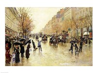 Boulevard Poissonniere in the Rain Fine-Art Print