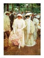 The Gardens of Paris - detail Fine-Art Print