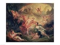 Apollo Revealing his Divinity to the Shepherdess Isse, 1750 Fine-Art Print