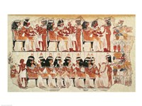 Banquet scene, from Thebes Fine-Art Print