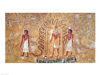 The sun god Ra in his solar barque Fine-Art Print