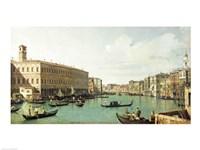 The Grand Canal from the Rialto Bridge Fine-Art Print