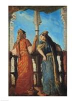 Jewish Women at the Balcony, Algiers, 1849 Fine-Art Print