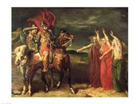 Macbeth and the Three Witches, 1855 Fine-Art Print