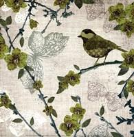 Birds and Butterflies II Fine-Art Print