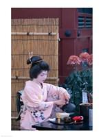 Geisha, Tokyo, Honshu, Japan Fine-Art Print