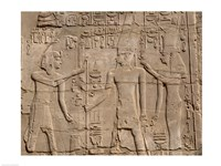 Ramses II in front of Amun and Sethi I, Luxor Temple, Aswan, Egypt Fine-Art Print