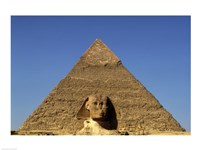 Great Sphinx  Chephren Pyramid  Giza  Egypt Fine-Art Print