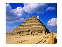 The Step Pyramid of Zoser, Saqqara, Egypt Fine-Art Print