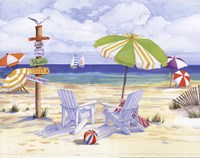 Beachside Chairs Fine-Art Print