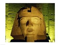 Ramses II statue, Temple of Luxor, Luxor, Egypt Fine-Art Print