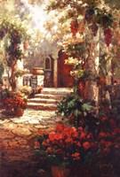 Courtyard Romance Fine-Art Print