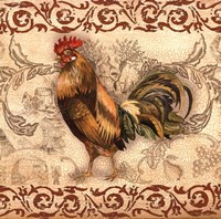 Toile Rooster I Fine-Art Print