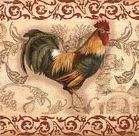 Toile Rooster II Fine-Art Print