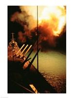 Mark-7 Guns fired from the USS Missouri Fine-Art Print
