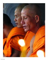 Buddhist Monk Meditation in Wat Khung Taphao Fine-Art Print