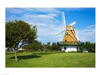 Traditional windmill in a field, City Beach Park, Oak Harbor, Whidbey Island, Island County, Washington State, USA Fine-Art Print