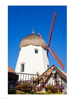 Windmill on Alisal Road, Solvang, Santa Barbara County, Central California up close Fine-Art Print