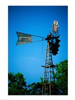 Low angle view of an industrial windmill, Winterset, Iowa, USA Fine-Art Print
