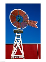 Red Windmill in Texas Fine-Art Print