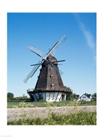 Traditional windmill in a field, Malmo, Sweden Fine-Art Print