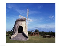 Windmill at the Whim Plantation Museum, Frederiksted, St. Croix Fine-Art Print