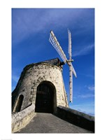 Windmill at the Whim Plantation Museum, Frederiksted, St. Croix Closeup Fine-Art Print