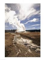 Old Faithful Geyser Yellowstone National Park Wyoming USA Fine-Art Print