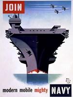Modern Mobile Mighty Navy Fine-Art Print