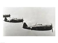 Three fighter planes, P-47 Thunderbolt Fine-Art Print